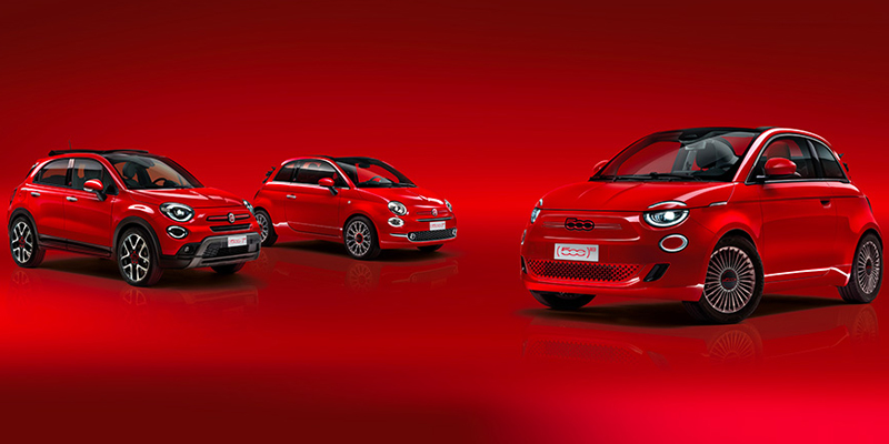 fiat 500 red family autos